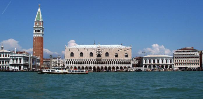 Venezia vista dal mare Piazza San Marco