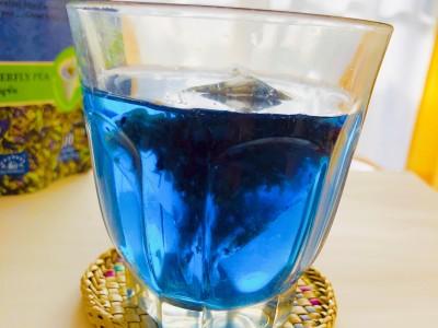 鮮やかなブルー!これが天然色素とは。