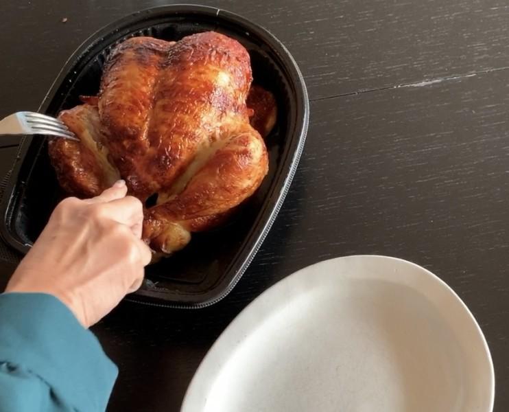 方 ロティサリー チキン 温め ローストチキンを美味しく簡単に温め直す方法